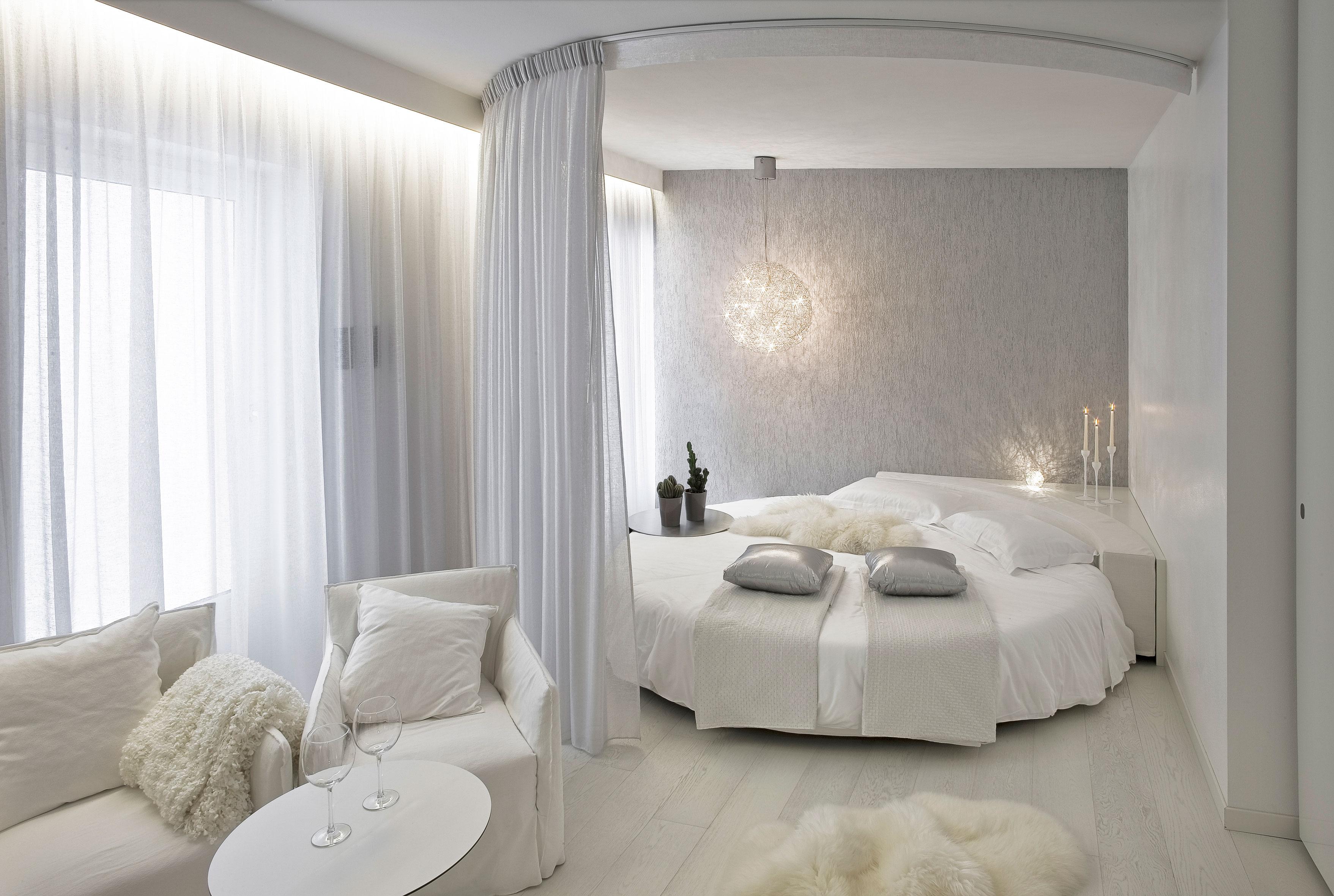 Tende camera da letto lilla : Tende del letto a baldacchino bagno finestra